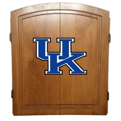 Kentucky Wildcats Dart Board Cabinet