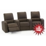 Palliser Pacifico Theater Seat Fabric Quick Ship Black or Brown, Manual Recline