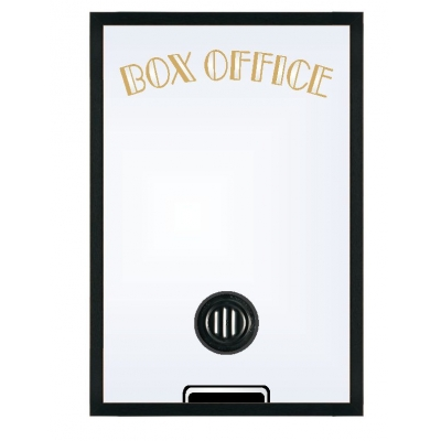"Home Theater Box Office Mirror with Classic 2"" Frame"