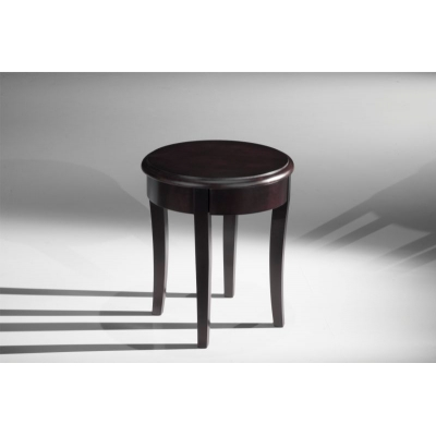 Classic Modern End Table in Brazilian Cherry Veneers and Solids with a Wenge Finish